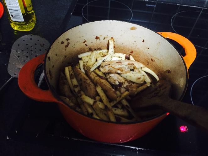 4. Chicken, parsnip honey & mustard stew